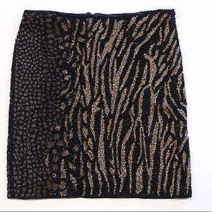 All Saints Skirts - All Saints Shia hand beaded skirt animal shine